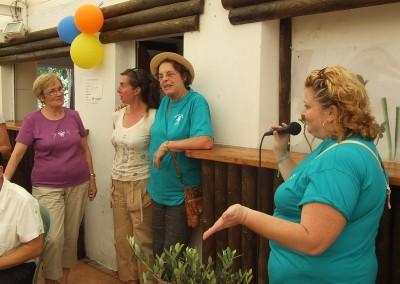 COLETTE ET MONIQUE toujours adhérentes depuis 20 ans SYLVIE à l'origine du projet PATRICIA notre Présidente